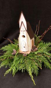 Accent Floral Arrangement with Church